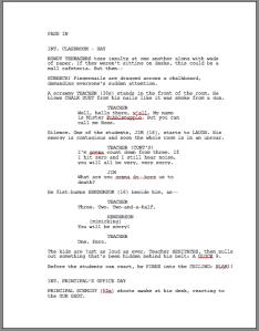 Script Formatting